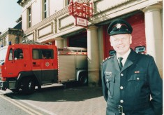 1990 New Commander for Blackburn fire station