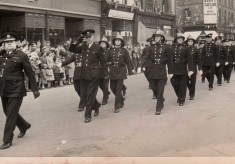 Marching in Mayors' Parade