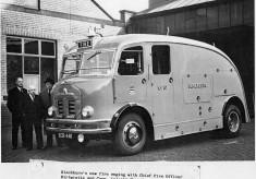 ECB440 Blackburn gets a new fire engine 1954