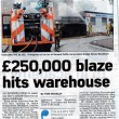 £250,000 Blaze Hits Warehouse  2011