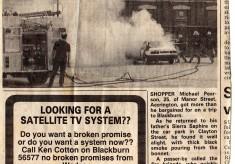 Clayton Street Car Fire 1980's