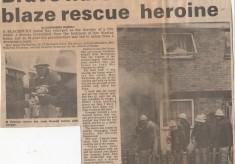 Brave Nurse Is House Blaze Rescue Heroine  1980's