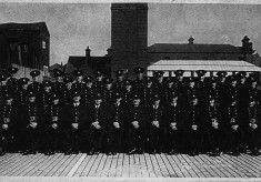 Chief Fire Officer With Squad 1940's