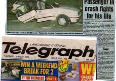Passenger In Crash Fights For Life  1996