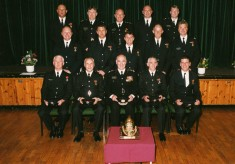 Recieving Long Service Medal From Chief Fire Officer