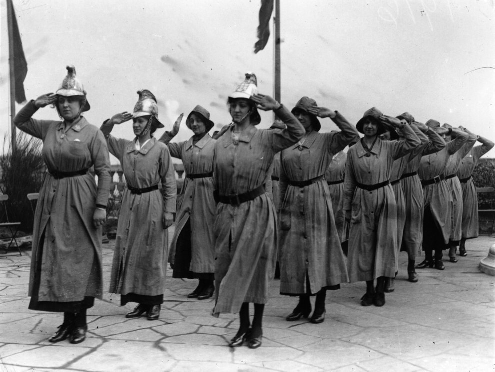 photos of women in the fire service 1920s1960s