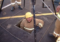 Rescue From Sewer Drill Station Yard