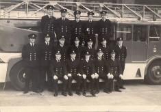 Blackburn Firemen Pose In Front Of TurnTableLadder