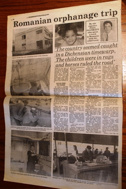 Rumania Help The Orphans. Three Visits Over Years,