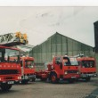 Blackburns 4 fire engines displayed on the station yard