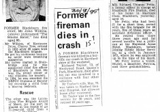 1970's Obituaries for John Wilkins, Richard Taylor and Richard Petty