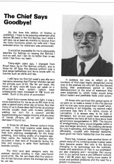 Chief Fire Officer Mr Jack Warden announces his retirement 1983