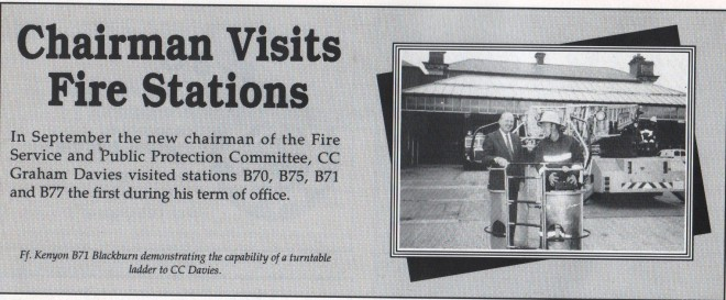 Chairman visits stations 1990's