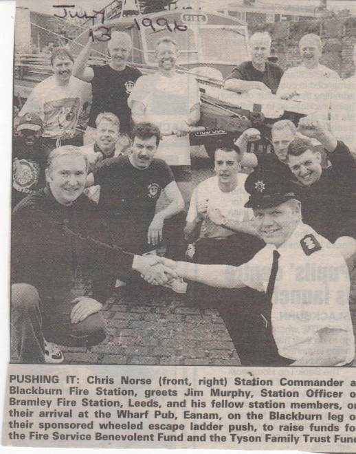 Helping hand for Leeds firemen raising money for charity
