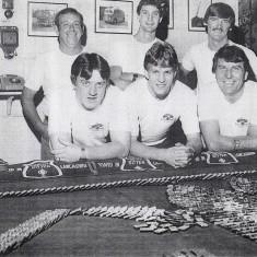 Green Watch domino challenge 1984