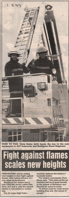 1997 Blackburn receives a new fire vehicle