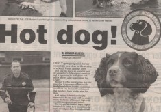 Burney the fire dog from Burnley