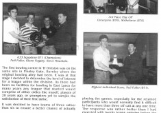 Divisional bowling champions
