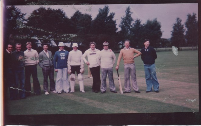 Left to right Alan Cook, Pete Obrien, Chris Norse, John Hulme, Ken Todd, Paul Coulclough, Wilf Nelson, Jim Yates, Bob Baron and Tommy McMillan.