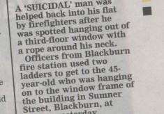 Crew Saves Suicidal Man