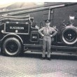 Fireman poses with the no 3 fire engine