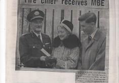 Fire Chief receives M.B.E