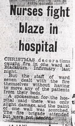 Blackburn Infirmary Fire 1970's