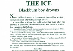 Seven Die under the ice January 30th 1954