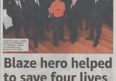 Blaze Hero and Firefighters Are Honoured  2010