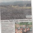More Than 70 Firefighters Fight Moorland Blaze 2011