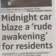 Midnight Car Blaze On Chetham Street 2011