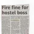 Fire Fine For Hostel Boss 2011