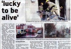 Fire in Isherwood Street 2011