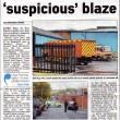 Fire Crews Battle Suspicious Blaze 2011
