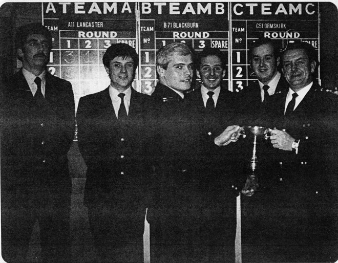 Blackburn fire station quiz team winners 1984
