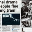 1967 People flee blazing train in Sough Tunnel Darwen