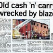 Old Cash 'N' Carry Wrecked By Blaze 2011