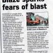 Blaze Sparks Fears Of Blast , 2010