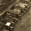 1930's Aeriel View Of Vehicles On Station Yard