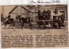 Darwen Firemen From Late 1800's