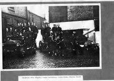 Firemen Pose for possibly last time at Clayton Street