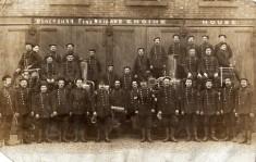 Firemen Outside Clayton Street Fire Station Late 1800's