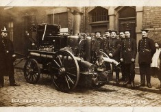 Blackburn fire brigade on practise. circa  1911