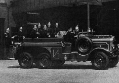 BV497 Photographed at the rear of Blackburn Fire Station 1930's