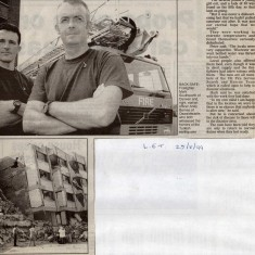 Firemen on rescue mission in Algeria in 1997 and 1999