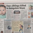 Four Siblings Killed In Blaze