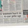 Grane Road Car Crash 4 car Pile Up