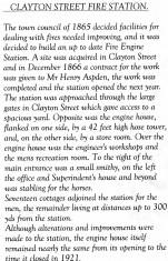 Clayton Street Fire Station 1866-1921