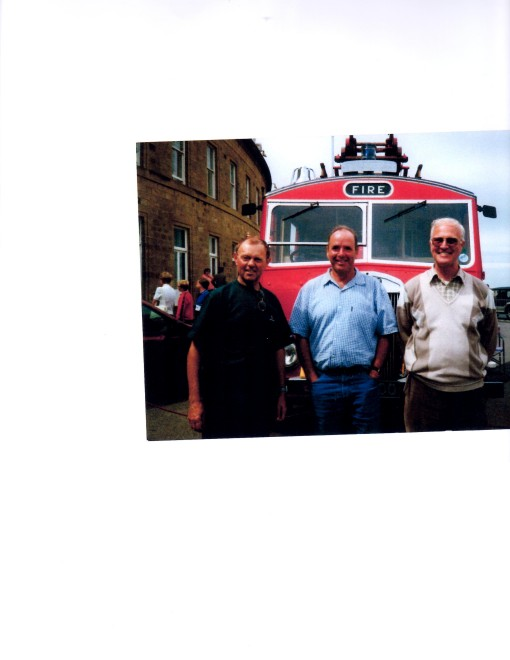 Lets just call it memories Retired Firefighters Left to right Ivor Kirkpatrick, Bob France and Wayne Gardner, at Vehicle Rally Fleetwood Tram Sunday.