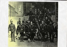 Firemen At Clayton Street Fire Station Circa late 1800's
